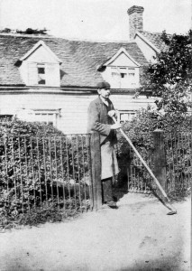 hw 00 or so Charles Smith in front of the blacksmiths cottage small
