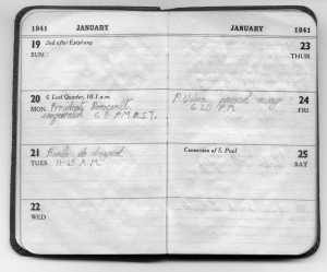 hw 41 chris mynott's diary pages january 1941 1a